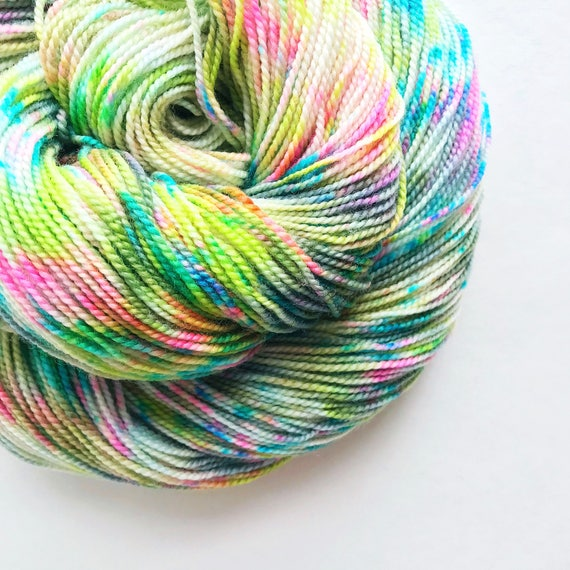 LILLY hand dyed yarn, speckle merino wool