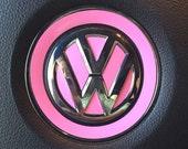 VW Beetle Steering Wheel Emblem Vinyl Color Inserts for 2012 and Newer Models by Tonyabug Sticker Momma