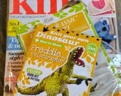 NIP Let's Knit! Magazine 95, August 2015  With free Velociraptor knit toy project