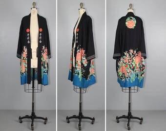 1920s kimono / vintage robe / IDALIA floral art nouveau jacket