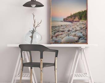 Maine Landscape Photo, Beach Photography, Ocean Photograph, Acadia National Park, Ocean Photo, Beach Photograph