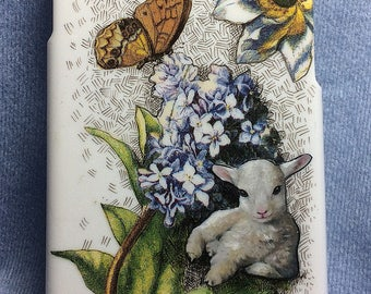 iPhone 6 Cover, One Of a Kind, Baby Lamb, Created from Original Art by Melody Lea Lamb