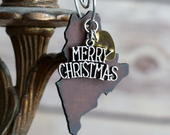 MAINE Christmas Ornament SMALL, MAINE Ornament, Christmas Gifts 2018, Personalized Gift, State Christmas Ornaments, Maine Ornaments