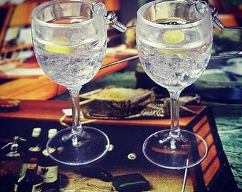 Gin & Tonic Glasses Earrings