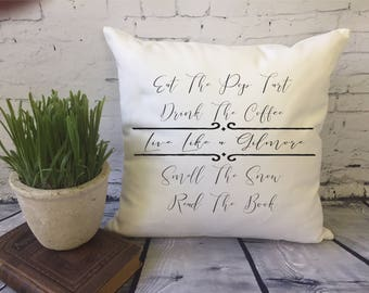 Gilmore Girls throw pillow cover/ Gilmore Girl's fan gift/ Star Hollow pillow/ Live Like a Gilmore pillow