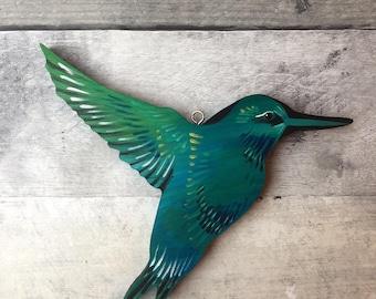 Hummingbird Hand-painted Wood Ornament
