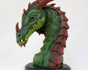 Dragon Bust Sculpture