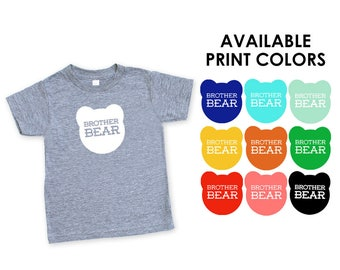 Brother Bear Heather Grey Triblend TShirt - Big Little Brother, Family Photos, Expecting, Announcment, New Baby