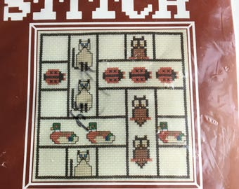 Cross Stitch Kit, Counted Cross Stitch, Owl, Ladybug, Duck, Cat, Vintage Cross Stitch, Unopened, In Package