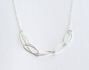 "modern chain necklace // ""serendipity"" sterling silver necklace // handmade jewelry"