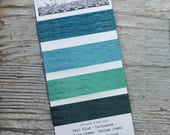 Irish Waxed Linen Thread, Bookbinding Thread, 4 ply, Ocean colors, Teal Blue, Turquoise, Seafoam Green, Spruce Green, 5 yards each color
