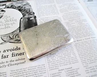 Vintage Silver Toned Cigarette Case