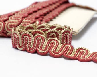 Classic Passementerie Trim by the yard - cord trim - upholstery trim -pillow trim - border trim -  2.5 cm - 1""