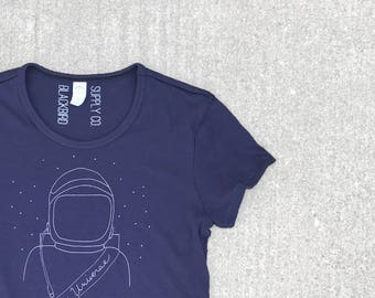 Astronaut Shirt, Women's Astronomy Shirt, Universe shirt, Ms Feminist T shirt, Science Shirt, Back to School, Womens Graphic Tee
