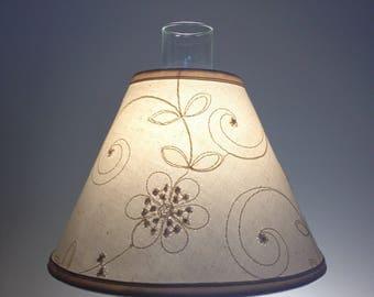 Fabric lamp shade etsy chimney lampshade hurricane lampshade lampshade for hurricane lamp lampshade chimney candlewicking aloadofball Choice Image
