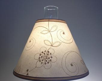 Chimney Lampshade-Hurricane Lampshade-Lampshade for Hurricane Lamp-Lampshade-Chimney-Candlewicking Fabric-Shade for Oil Lamps-Lamp Shade