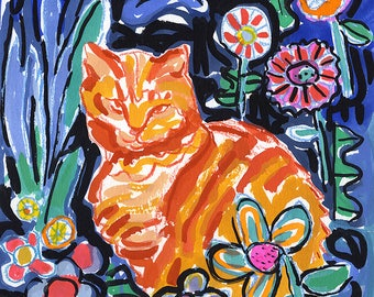 Tommy in the garden, fine art print