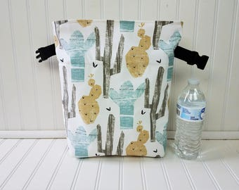 Lunch Bag Cactus - Lunch Bag - Lunch Bag for Women - Cactus Bag - Lunch Bag Insulated - Lunch Bag Tote