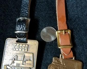 Construction Equipment Pocket Watch Fob