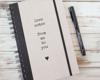 Love Journal, Valentine's Day Gift, Journal Notebook, Boyfriend Gift, Girlfriend Gift, Couples Gift, Wedding Gift LN1