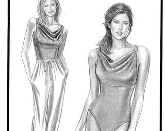 Stretch & Sew 1344 Divine Drape Swimsuit Bathing Suit Bust Size 30 to 46 Uncut Sewing Pattern 1998