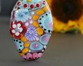 Handmade lampwork bead focal  |  Honeymoon |  free-formed  |  SRA  |  artisan glass |  Silke Buechler