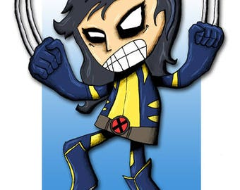 X-23 Wolverine Art Print Superhero X-Men Illustration