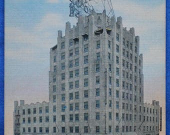 Boise Hotel Idaho Linen Postcard Unused
