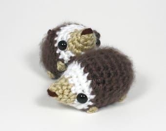 Crocheted Hedgehog Amigurumi Plushie - Mini Hedgie Plush - READY TO SHIP