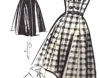 1950s Dress Pattern Mail Order Unprinted FF Vintage Sewing Blouse Front Wrap Bodice Vintage Sewing Women's Misses Size 14 Bust 32 Inches