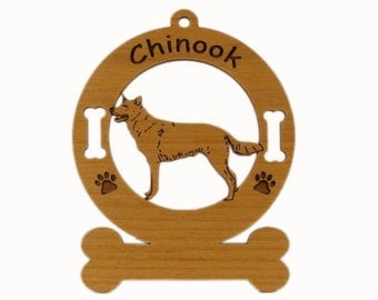 2130 Chinook Standing  Personalized With Your Dog's Name