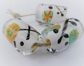 Handmade Lampowrk Beads, Handmade Glass Beads, Barrel