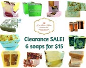 Soap sale, soap clearance, soap set, 6 soaps for 15, soap bargain, ooops soaps, discount soaps, vegan soap, natural soap, bloopers soap