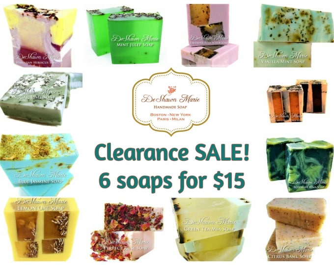 6 soaps for 15 grab bag clearance sale