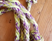 Green and purple cotton jumprope -Ready to ship!