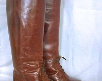 Vintage Marc Alpert Collection Leather Riding Boots Made In Italy By Maria Pia SZ 5 1/2