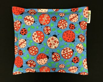 Flannel Corn Bags, Heat Pack, Corn Heating Pad, Microwave Corn Bags, Heated Bag, Ice Pack, Relaxation Gift, Gift for Children, Ladybugs