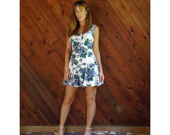 Floral Print Sleeveless Romper Playsuit - Vintage 90s -