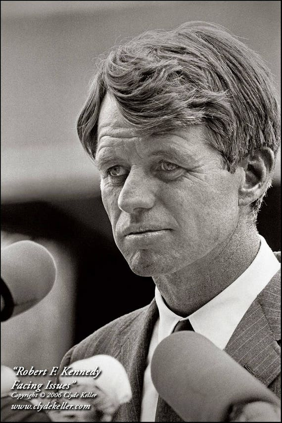 RFK FACING ISSUES, Robert F. Kennedy, Clyde Keller 1968 Photo