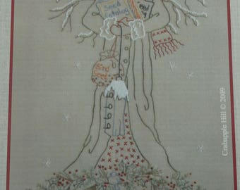 Gardener's Angel of Winter-Faith Embroidery Pattern from Crab Apple Hill Studio #250