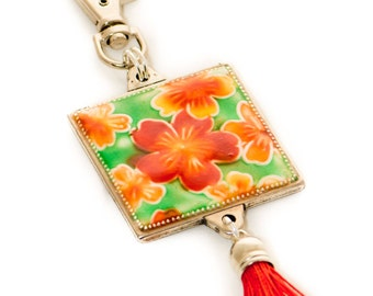 Key Chain, bag decor, judaica, decoration, jewish gift, ornament, floral