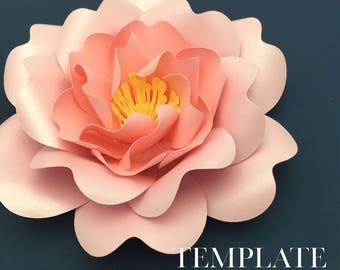 Cabbage Rose TEMPLATE SVG & PDF (Digital file only)