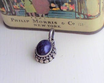 Sterling Lapis Pendant - 925, Sterling Silver, Sterling, Lapis, Sodalite