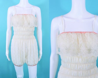"""1970s lace romper 