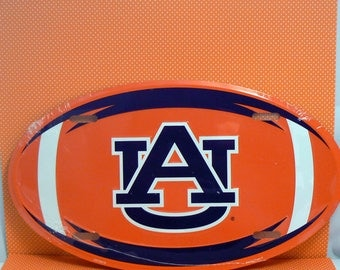 Auburn Tigers Oval License Plate Car Truck Tag Football War Eagle Aubie AU