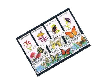 Butterfly Stamp Selection | pretty butterflies thematic topical collection of used vintage stamps ! card craft, decoupage, upcycle, collect