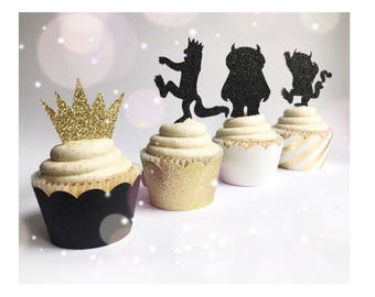 Where the Wild Things Are| Wild One Cupcake Toppers| Wild One Toppers| Wild One Cakes| Wild One Decorations