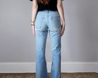 70s Levis 746 flare light denim wash flare 28