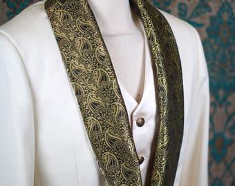 Silk Brocade Tuxedos----1909 Bespoke