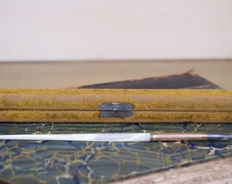 Antique Gold-Filled Mother of Pearl Victorian Dip Pen with Case